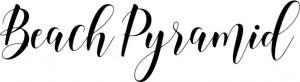 ビーチピラミッド文字